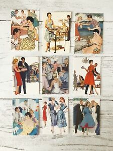 Vintage Style Party Card Toppers, Gift Tags Craft Make Your Own Fifties Retro