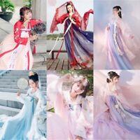 Lolita Chinese Ancient Ruqun Hanfu Fancy Long Robe Dress Fairy Cosplay Costume