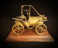 Brass Scrap Metal Antique Car Folk Art Sculpture