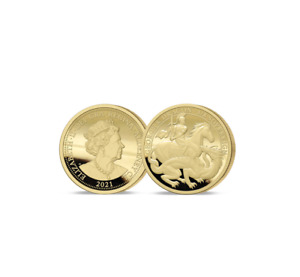 The 2021 George and the Dragon 200th Anniversary Gold 1/8 Sovereign