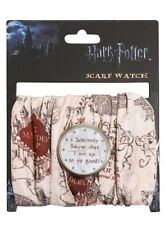 Harry Potter Marauder's Map Scarf Watch I Solemnly Swear New With Tags!