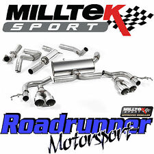 "Milltek Performance Exhaust Civic Type R FK2 (RHD) 3"" Cat Back Res Polish Tip EC"