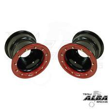 YFZ 450 YFZ 450R  Rear Wheels  Beadlock  9x8  3+5  4/115  Alba Racing  Blk/red
