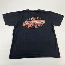 Zac Brown Band Tour 2013 T Shirt Men's Large Short Sleeve Black Crew Neck Cotton