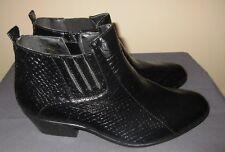 Mens Bolano Black Zip Up Snakeskin Print Ankle Dress Shoe Size 9
