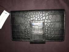 Kenneth Cole REACTION Black BiFold Utility Clutch Wallet, New with Tag
