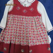 Sarah Louise size 6 mo. 2 pc. jumper and blouse,wine w/cream cordoury new w/tags