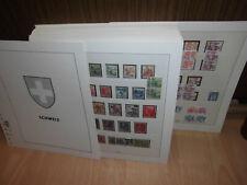 Sammlung Schweiz 1938-1979 gestempelt auf komplettem Lindner T Vordruck (52076)