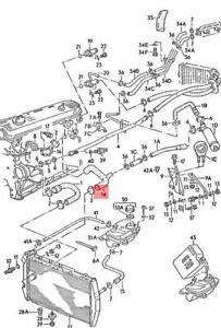 Genuine AUDI 100 Avant quattro 200 5000 Turbo 44 Coolant Hose 447121101A