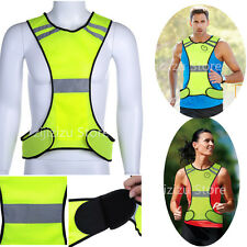 Motorcycle Fluorescent Green High Visibility Neon Reflective Racing Vests Safety