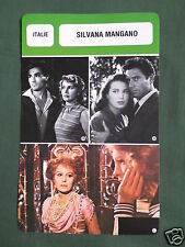 SILVANA MANGANO - MOVIE STAR - FILM TRADE CARD - FRENCH