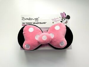 The Creme Shop 3D Teddy Headyband Minnie Mouse Limited Edition NWT