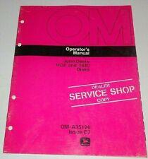 John Deere 1630 1640 Disk Operators Owners Maintenance Manual Original! E7 disc