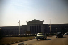 1950's Government Building USA Flag Cars Kodachrome Red Border 35mm Slide