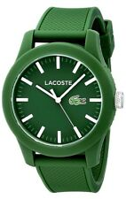 Lacoste Men's 12.12 Green Polo Strap Watch. New in Box. 504