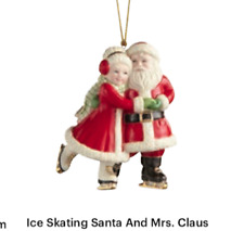 Lenox Christmas Ice Skating Mr & Mrs Santa Claus Ornament New 2020 883612