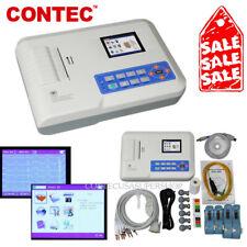 3 Channel 12 Leads Electrocardiograph ECG/EKG Machine Multi-language ECG300G FDA