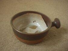 RUSTIC BROWN GLAZED SINGLE-HANDLED POTTERY BOWL / DISH ~MAGHERAFELT