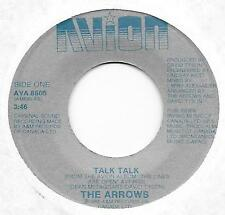 "POWER POP - OHIO - THE ARROWS on AVION - ""TALK TALK""   [NEAR-MINT]"