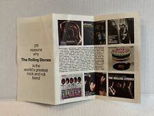 211 Reasons Why Rolling Stones World's Greatest Rock Band Album Insert 1971 RARE