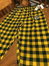 Green Bay Packers NFL Men's Flannel Plaid Pajama Lounge Bottoms Size Medium  NWT