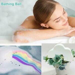 Natural Cloud Rainbow Bath Salt Ball Essential Effervescent Bubble Bath Bomb NEW