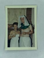 Man Woman Toga Egyptian Costume Vintage Color Photograph Snapshot 3.5 x 5