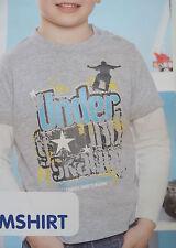 Jungen Langarmshirt Shirt 86/92 grau Skating Neu!!!