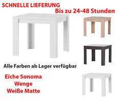 Tisch Küchentisch Esszimmertisch Esstisch Wohnzimmer Quadratisch 90x90 Weiß Matt
