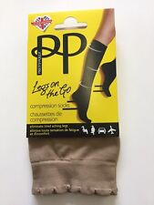 Pretty Polly LEGS ON THE GO - Compression Sock -  Holiday Flight Socks NATURAL