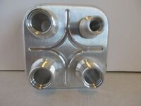 POLISHED ALUMINUM 4 PORT A/COND./HEATER FIREWALL BULKHEAD FITTINGS  #1005