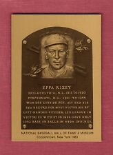 EPPA RIXEY, Reds-Phillies ~ Official Hall of Fame metallic plaque-card (1/1,000)