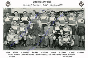 BARBARIANS 1948 (v Australia, 31st January) RUGBY TEAM PHOTOGRAPH