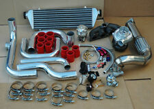 EG EK D SERIES TURBO KIT+ INTERCOOLER+ POLISHED ALUMINUM PIPING+CAST MANIFOLD