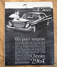 1961 Chrysler Newport Ad - '62's Price Surpise