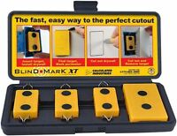 Magnetic Drywall Cutout Marking Tool Rectangular Electrical Outlet Box Locator