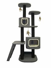 Cat Tower 5-Level Climbing Tree, Includes Hideaways and Perches, and Cat Toys