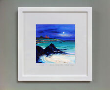 FRASER MILNE 'MOON OVER THE ISLE OF IONA' FRAMED SIGNED PRINT