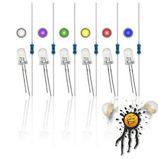 5mm LED Sortiment 3.3V 5V 6V 9V 12V red blue white yellow green purple 12-Teile