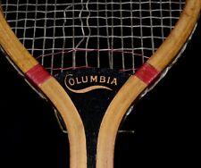 Gorgeous Antique Wood 1910 Wright & Ditson Columbia Tennis Racket