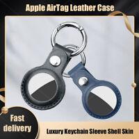 Étui en cuir Pour AirTag housse de protection Apple Airtags coque porte-clés