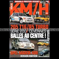 KM/H N°54-b 205 T16 16 R5 TURBO FIAT BARCHETTA OPEL MANTA 400 SUNBEAM IMP SPORT