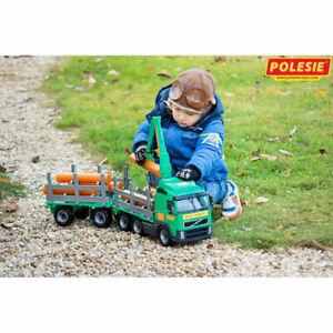 WADER Truck Holzfrachter mit Anhänger Kinder Spielzeug Fahrzeug LKW 8725