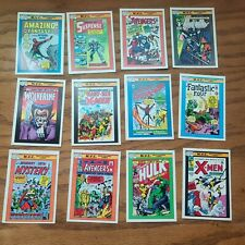 New listing Marvel Comics Vintage Mvc Comic Book Trading Cards Lot Of 12 1990's