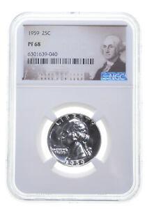 1959 PF68 Proof Washington Quarter NGC Graded - White Coin Spot Free PR *0097