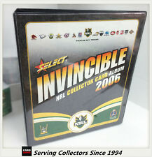 OFFICIAL NRL TRADING CARD ALBUM--2006 SELECT NRL INVINCIBLE ALBUM
