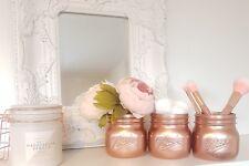 Painted Rose Gold Mason Ball Jars - set of 3