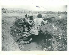 1935 Italio-Ethiopian War Troops in Trenches Original News Service Photo