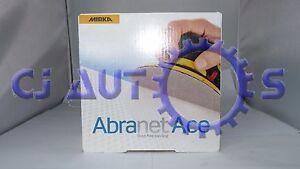 MIRKA ABRANET ACE DUST FREE SANDING DA DISCS SAND PAPER P180 HOOK LOOP GRIP BOX