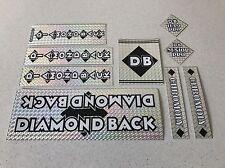 Diamondback Senior pro Decals Sticker Set Suit Your Old School BMX Black